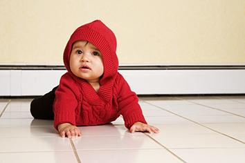 tile floor baby